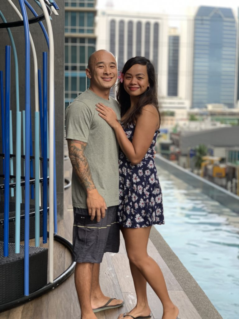 Ami and Long on their engagement day :)